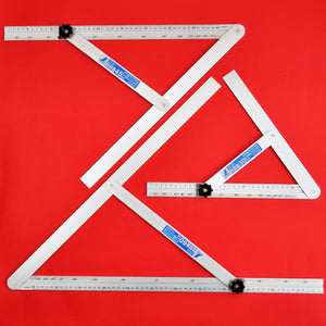 Set of 3 SHINWA sliding adjustable precision angle bevel 30cm 45cm 60cm 62660 62661 62662 aluminum
