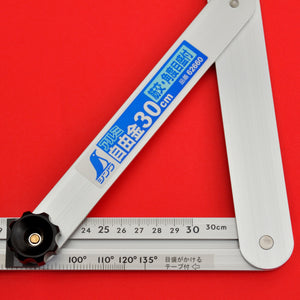 "SHINWA sliding adjustable precision angle bevel 60cm 17.7"" 62662 aluminum"
