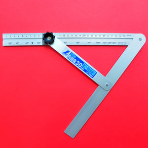 "SHINWA sliding adjustable precision angle bevel 30cm 11.8"" 62660 aluminum"