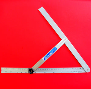 "SHINWA sliding adjustable precision angle bevel 45cm 17.7"" 62661 aluminum Japan Japanese tool"