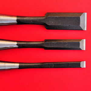 Set 3 japanese Tōgyū Chisel wood oire nomi blade Japan