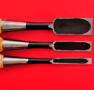 Set 3 japanese Tōgyū Chisel wood oire nomi 9mm 15mm 24mm Japan
