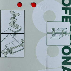Packaging User guide Japan Hatagane clamp Yamazaki Japan japanese tool woodworking carpenter