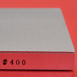 Close-up side view Atoma Tsuboman diamond sharpening stone #400 Japan  Japanese whetstone waterstone