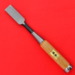 Back side japanese Tōgyū Chisel wood oire nomi Made in Japan tool woodworking carpenter