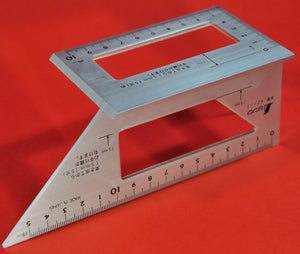 SHINWA Square Layout Miter ruler 45 + 90 Degrees 62113 aluminum