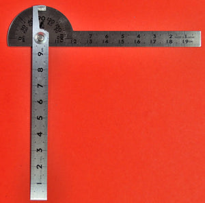 SHINWA Protractor 10cm ⦰40mm Stainless steel 62987 Japan