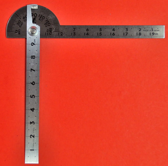 SHINWA Protractor 10cm Stainless steel 62987