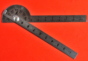 SHINWA Protractor 10cm ⦰40mm Stainless steel 62987