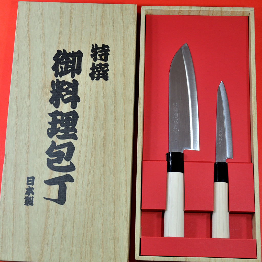 Packaging YAXELL Santoku + petit 2 knives set stainless steel 165mm Japan