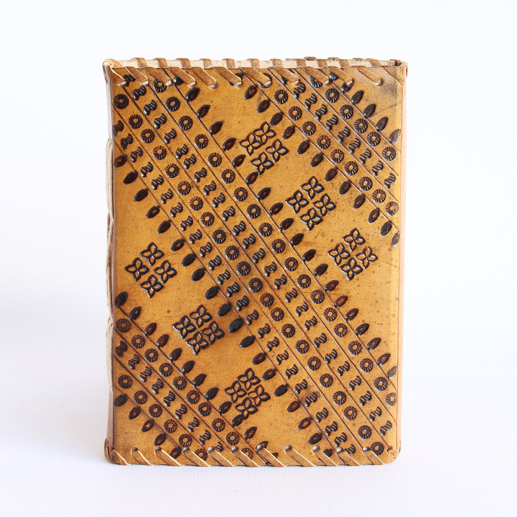 Tan Leather Journal 13x18cms