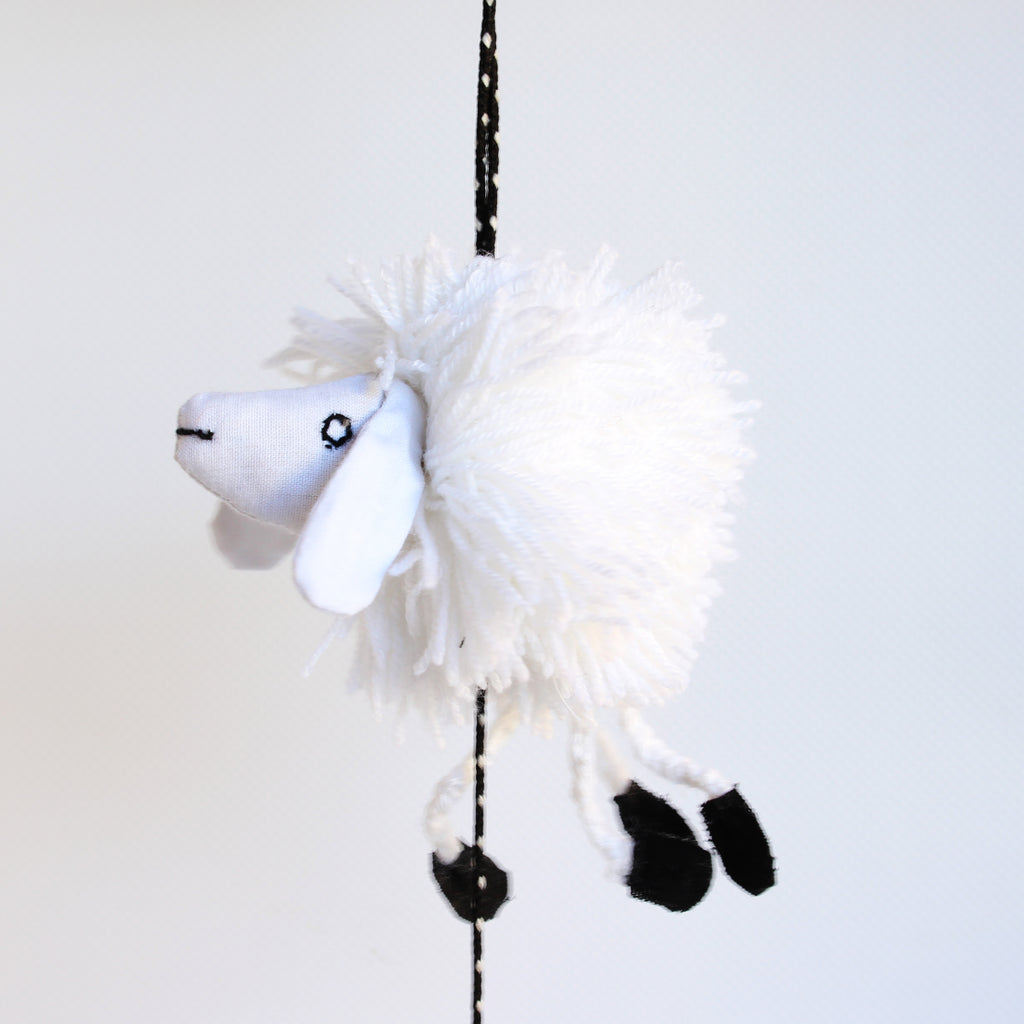 Woolly Sheep Mobile 3 Sheep 65cms Long
