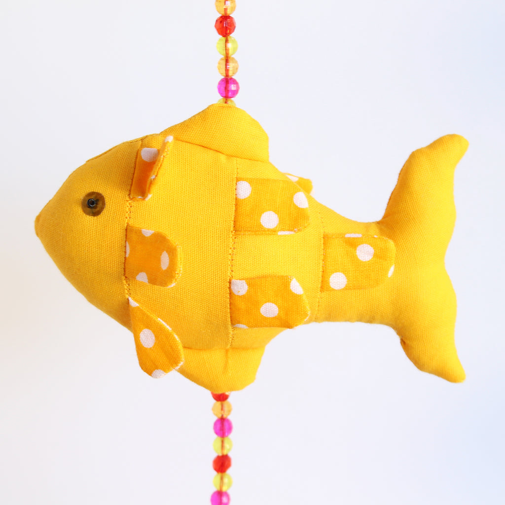 Fish Mobile with bells 4 Fish 70cms Long