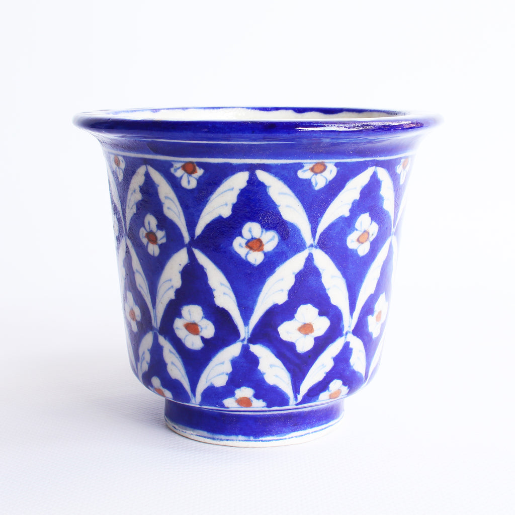 Jaipur Blue Pottery Planter Pot