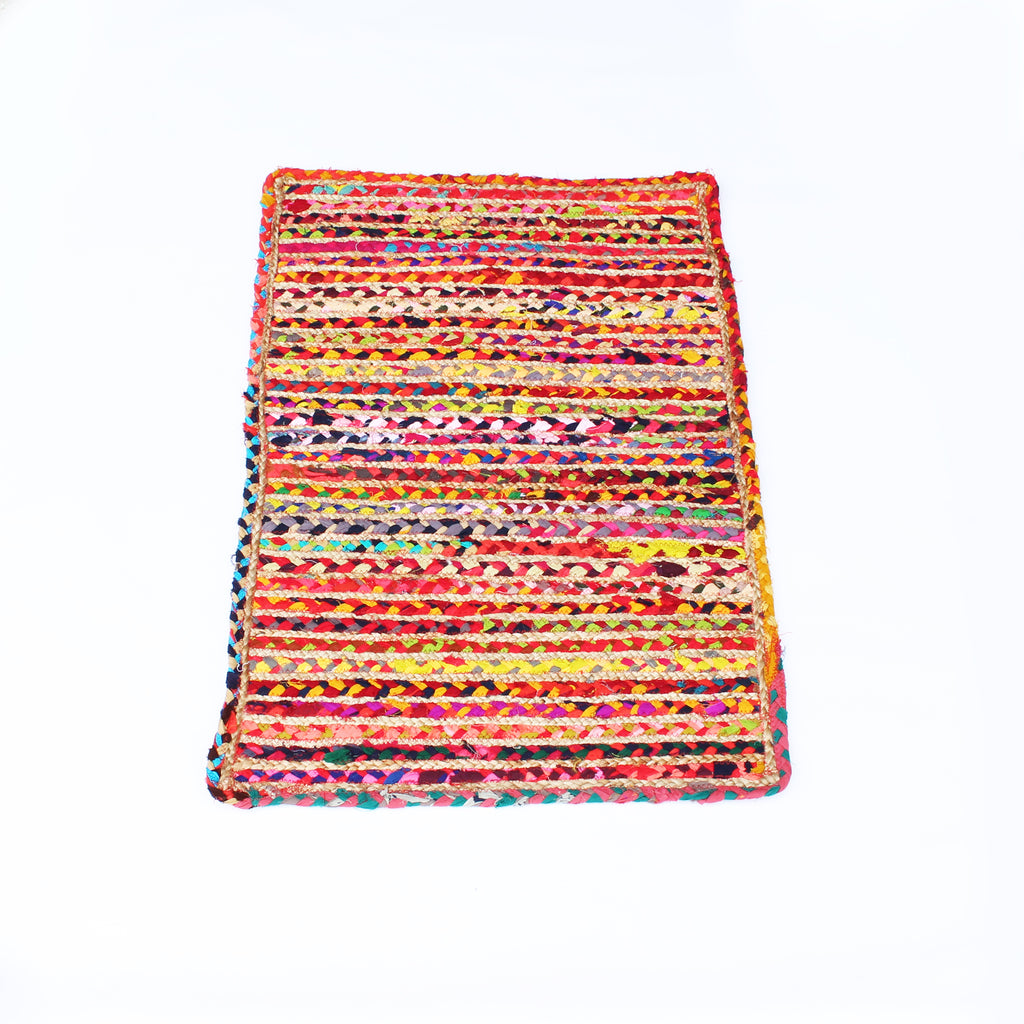 Jute and Cotton Floor Mat 60x90cms