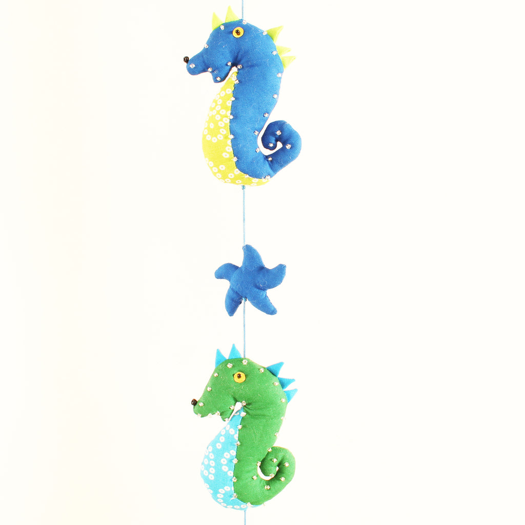 Sea Horse and Star Fish Mobile 4 Sea Horses 95cms long