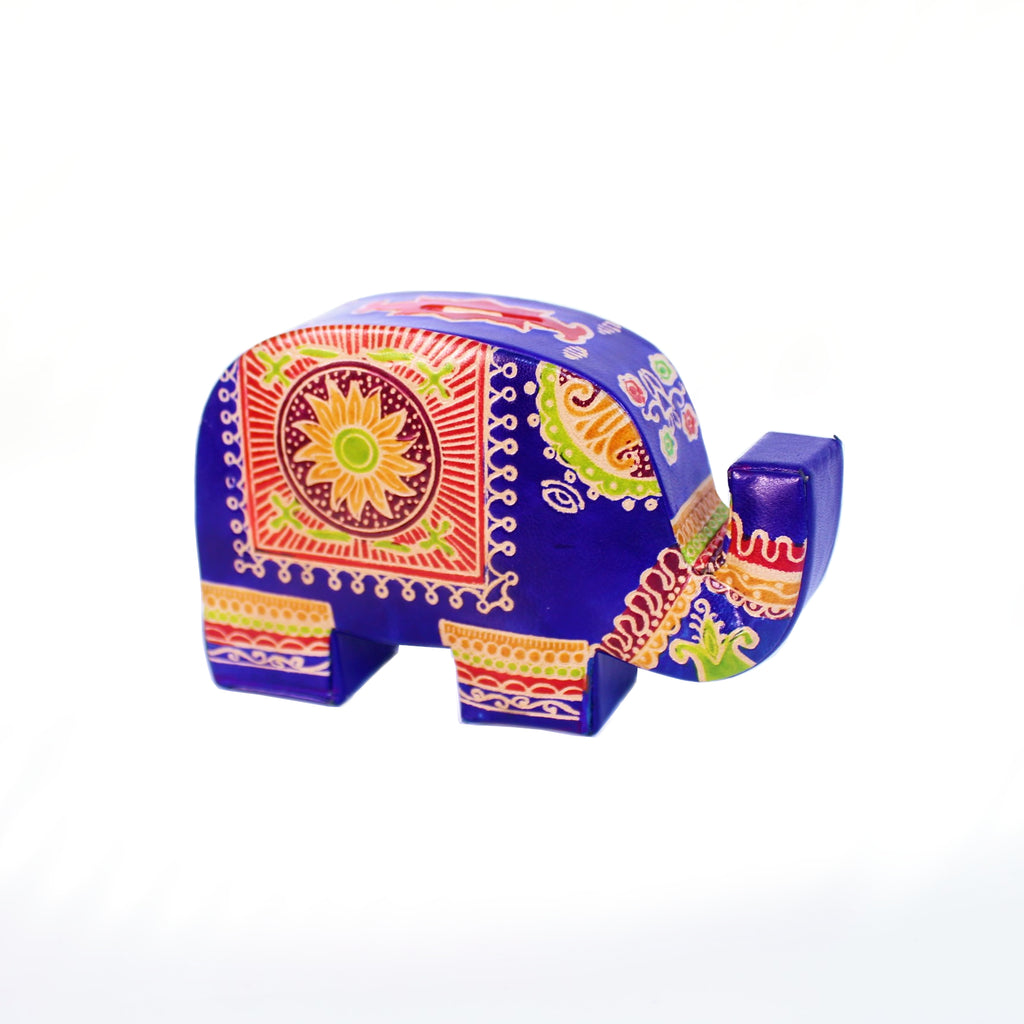Elephant Leather Money Box