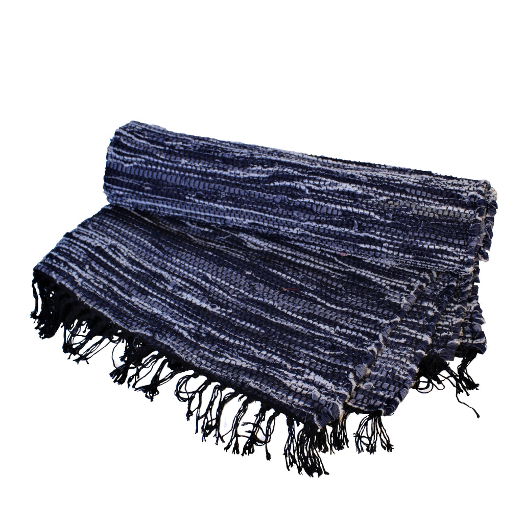 Recycle Demin Jean Chindi Floor Rug 180x120cms