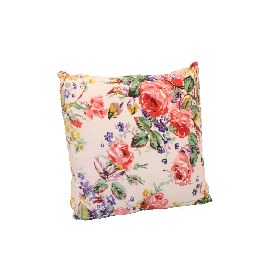 Cotton Velvet ROSE Double Sided Cushion with Filler 45x45cms