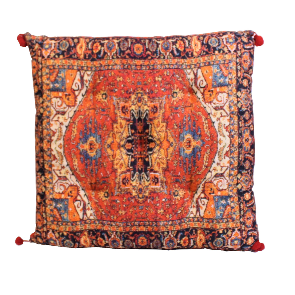Floor Cushion Carpet Design Kapok Filling 60x60cms