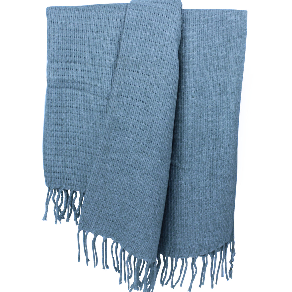 Indian Cotton Throw with Fringe