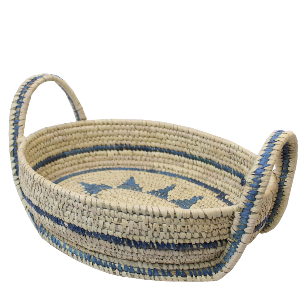 Sustainable Oval Basket with Handles 27x22x6cms