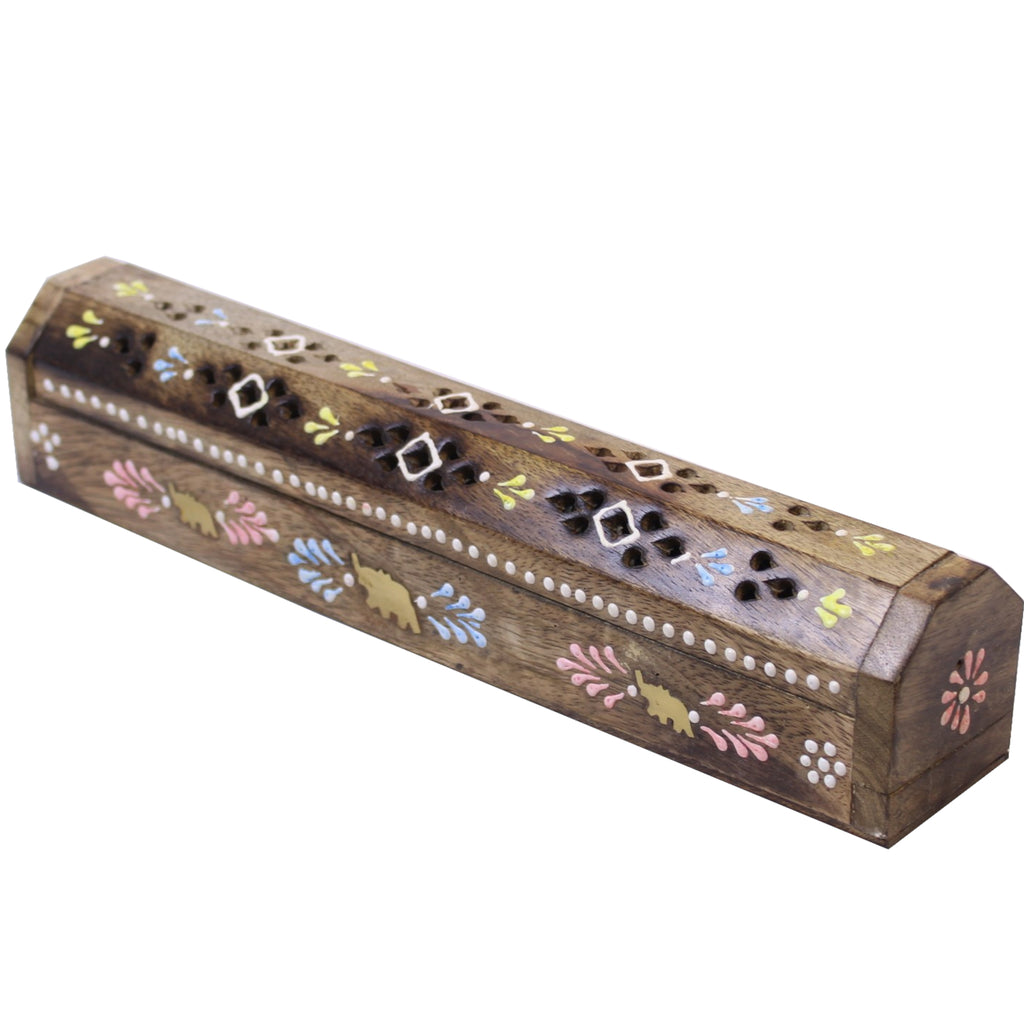 Embossed Wooden Incense Box