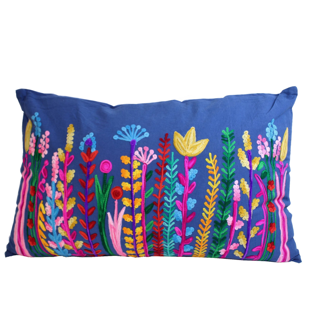 Flower Garden Cushion with Filler 45x75cms