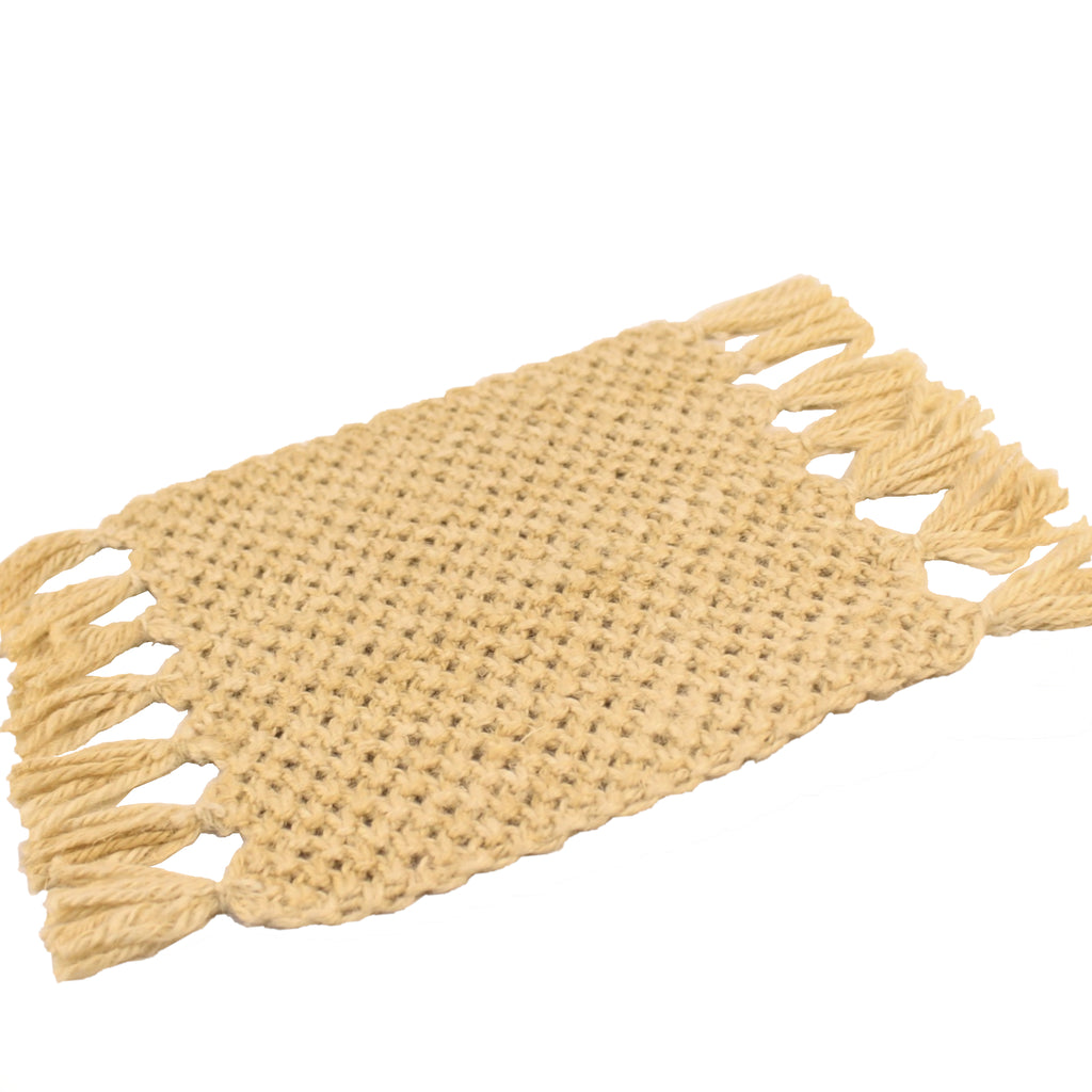 Sustainable Bleached Jute Trivet 28x20cms
