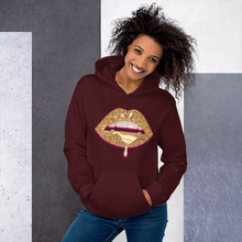 "Load image into Gallery viewer, ""DRIPPIN "". Women Hooded Sweatshirt"