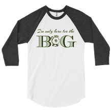 "Load image into Gallery viewer, ""THE BAG"". 3/4 sleeve raglan shirt"