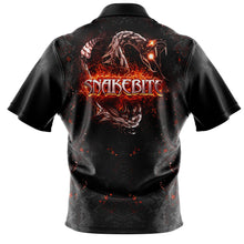 Load image into Gallery viewer, Replica Black/Orange Snakebite Polo Shirt