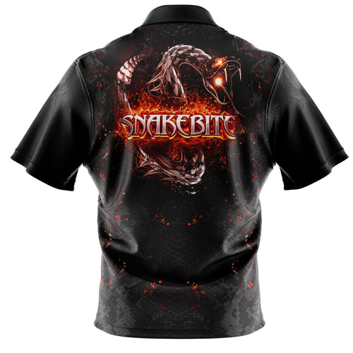 Replica Black/Orange Snakebite Polo Shirt