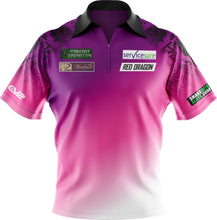Load image into Gallery viewer, Replica Purple/Pink/White Fade Snakebite Polo Shirt