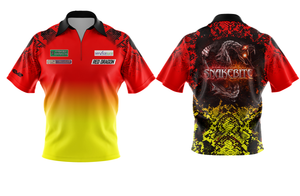 Red/Yellow Snakebite Polo Shirt replica