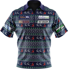 Load image into Gallery viewer, Replica Christmas Jumper Polo Shirt kids & Adult sizes