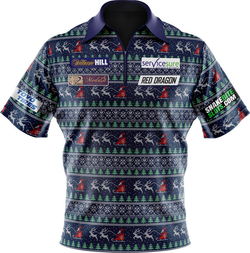 Replica Christmas Jumper Polo Shirt kids & Adult sizes