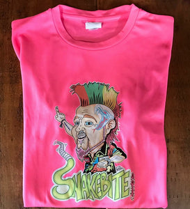 White or pink  caricature t-shirt kids and Adults
