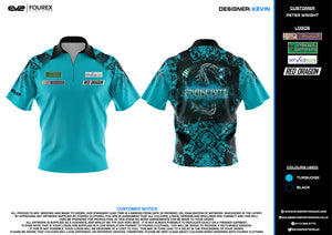 Teal Snakebite Polo Shirt replica