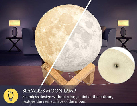 AED 3D Printed Moon Lamp