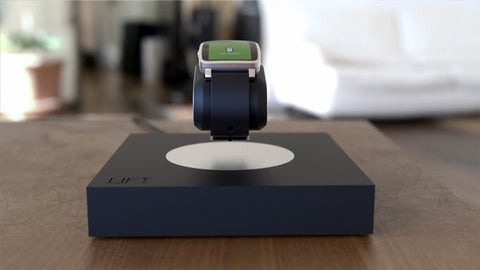 Levitating wireless charger for watch
