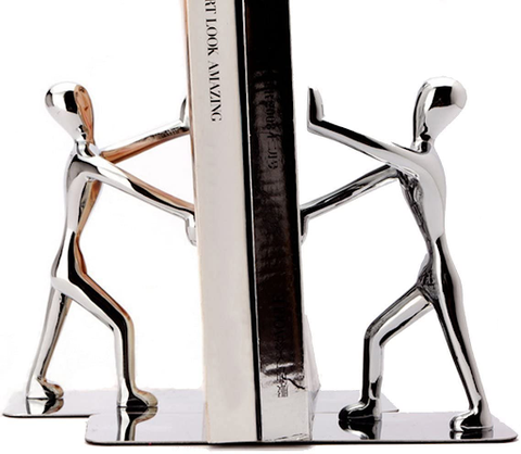 Stainless Steel Man bookends