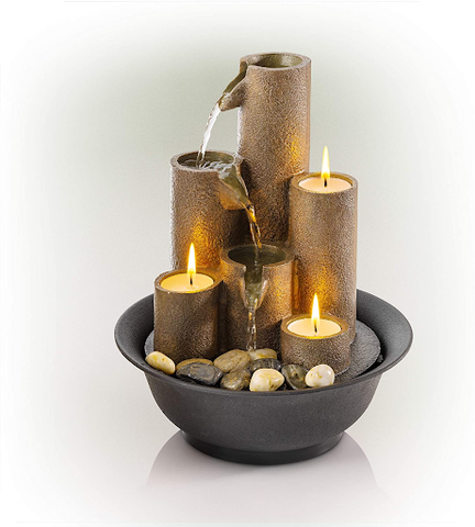 Tiered Column Tabletop Fountain