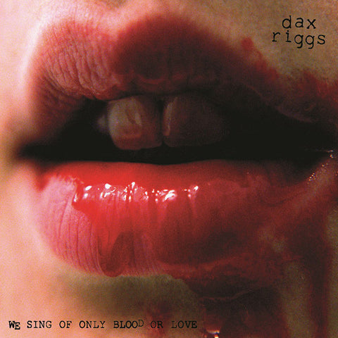 We Sing Of Only Blood Or Love CD