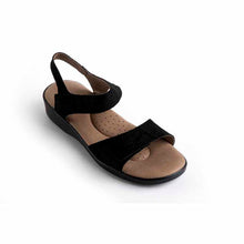 Load image into Gallery viewer, A'rcopedico Galapagos Sandal - black
