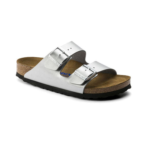 Birkenstock Arizona Sandal in Silver