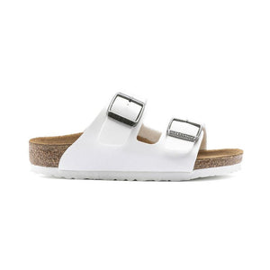 Birkenstock Arizona Birko-Flor in White - Kids