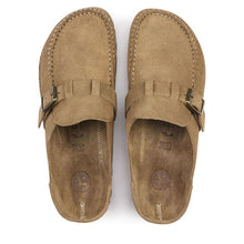 Load image into Gallery viewer, Birkenstock Buckley Suede Clog in Tea