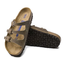 Load image into Gallery viewer, Birkenstock Florida Oiled Leather in Tobacco Brown