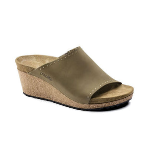 Papillio by Birkenstock Namica Wedge in Mud Green